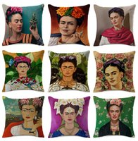 Wholesale red couches for sale - Group buy Cushion Covers Flower Cushion Cover Sofa Throw Decorative Linen Cotton Pillow Case For Bedroom Sofa Couch