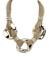 Wholesale Geometric Choker Necklace - Collier Femme Rope Chain Choker Statement Necklaces Women All Match Sweater Geometric Necklaces & Pendants Women Accessories