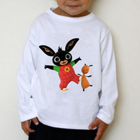 Wholesale Toddler Cotton Tshirts - Kids clothes 2016 boy Bing Bunny tshirts clothes Toddler Boys girls Long sleeve t shirts tops children shirts baby Kids summer clothing