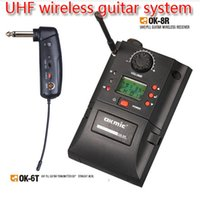 Wholesale Guitar Pickups High - Wireless Guitar Pickups High Quality Guitar UHF Wireless System OKMIC OM-6T DPLL digital frequency 16 channels 500MHz-980MHz Free Shipping