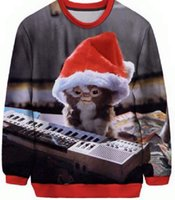 Wholesale Christmas Plus Size Outfits - Wholesale-gremlins christmas cute cat sweatshirts Women Men Funny Kittens Outfits Sport Tops Jumper Autumn Fall Style Sweats Plus Size
