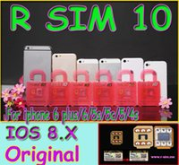 For Apple iPhone sprint film - Newest Original R SIM rsim R SIM Thin Film sim Card Unlock for iphone plus S C S iOS6 X X Support Sprint AT T T mobile