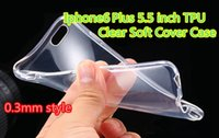 Wholesale Pink Clear Rubber Phone Case - TPU Clear Case Ultra Thin Flexible Soft Cover For Iphone 5 6  6 Plus 5.5inch Highly Transparent Back Phone Case Rubber Cover
