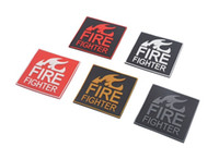 PVC Patch FIRE FIGHTER Rosso su Nero PATCH Rescue Thin Red Line FIREFIGHTER EMS Medic Morale Tactical patch
