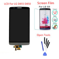Wholesale film assembly - Wholesale-Gray LCD For LG G3 D855 D850 LCD Touch Screen Display with Digitizer Assembly + Screen Protector Film + Open Tools,Free shipping