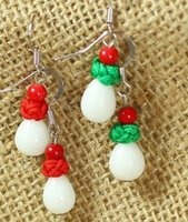 Wholesale Paris Earings - 3 paris colorful natural ade bead lady's earings ( 88)
