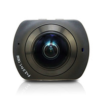Wholesale Lens Panoramic - WIFI Panoramic 360 Degree Cam VR Camera 4K HD Wide Dual Angle Fish Eye Lens VR Video Camera for Andriod Smartphone waterproof 30m 5PC LOT