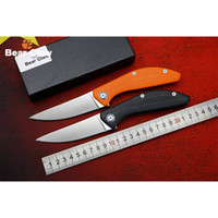 Wholesale Good Quality Survival Knives - BEAR CLAW SIGMA good quality Flipper folding knife D2 blade G10 handle hunting practical camping survival pocket knives EDC tool