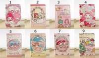 Wholesale Case Melody Free Shipping - 30pcs Little Twin Star My Melody Leather Case For ipad air1 2 Cute Cartoon Stand Cover with Credit card slot free DHL shipping