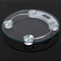 Wholesale Electronic Body Weight Scale - digital scale 180KG 0.1KG LCD Digital Electronic Body Fat Weight Bathroom Weighing Scales glass fast shipment