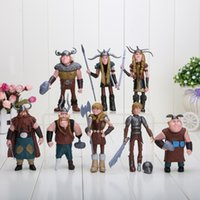 Wholesale Plastic Bag Movie - 8pcs set 10-13cm How to Train Your Dragon 2 Figurines PVC Action Figures Classic Toys Kids Gift opp bag