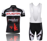 Wholesale Kuota Clothing - Wholesale-2015 Kuota Tour De France Cycling Jersey bicycle clothing men Mtb Bicycle jersey + bib shorts silicone pad