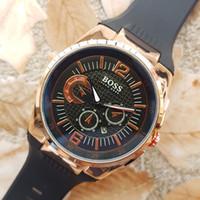 Wholesale Rubber Ends - Swiss brand boss watch men's luxury watches High quality fashion quartz watches AAA relojes atmos High end brand men BOSS wristwatch