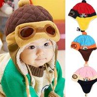 Wholesale Bonnet Protector - Bonnet Baby Winter Hats Child Hat Plus Velvet Baby Hat Autumn And Winter Thermal Protector Ear Cap Anne