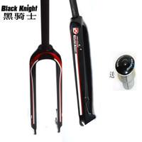 Wholesale Disc Carbon - Black knight mountain Bicycle Fork Full Carbon fiber disc brake Fork MTB bike Fork cycling parts 1-1 8'' 26er 27.5er 29er