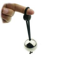 anel de castidade do peso da bola venda por atacado-Bola de metal Peso Pesado Maca Maca Extensor de Pênis Alargamento Anel Peniano Masculino Dispositivo de Castidade Brinquedos Sexuais Anel Penis para Homens