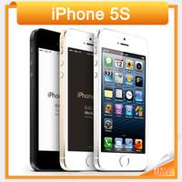 telemóveis iphone 5s venda por atacado-2016 Venda Quente Smartphone Desbloqueado Original da Apple Iphone 5S A7 dual core 8MP Câmera GSM WCDMA LTE IOS Multi-Língua celular