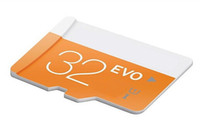 Wholesale Genuine Micro Sd Cards 32gb - EVO 100% Real 32GB Micro SD Card Class 10 UHS-1 SDXC SDHC TF Card Full Genuine 32GB Orange Single Card for Cell Phones with Sealed Package