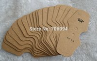 Wholesale Wholesale Card Displays - Free Shipping,1000pcs lot 3.3*8cm Printed Brown Necklace Card,Custom Jewelry Necklace Packaging Display Cards,custom tag cards