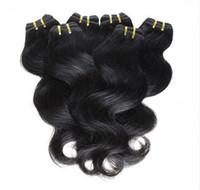 наращивание человеческих волос корабля оптовых-Дешевые Волосы! 20bundles / лот 100% бразильский девственные волосы человеческие волосы ткать волнистые тела волна естественный цвет волос расширения Оптовая Бесплатная доставка