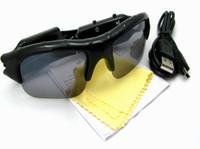 câmera dvr de óculos de sol venda por atacado-Venda quente Câmera De Vídeo De Áudio Digital DV DVR Óculos De Sol câmera Esporte Camcorder Recorder Para Condução Ao Ar Livre