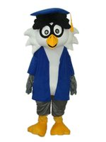 Wholesale Owl Mascot Cartoon - Factory Outlets new fashion very clever Dr. Owl Halloween Fancy Dress Cartoon Adult Animal Mascot Costume free shipping