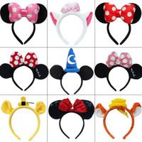 Wholesale Mice Ears Headband - headband hoop dance festival Children mouse ears headband baby headband Christmas birthday party supplies 21style Optional