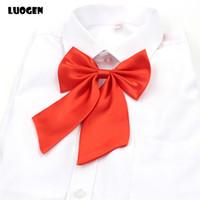 Wholesale Tie Set Price - Wholesale- 1 Piece Classic Japanese School Student Girls JK Uniform Bow Tie Cute Pure Colors Lolita Cosplay Necktie 9 Color Wholesale Price