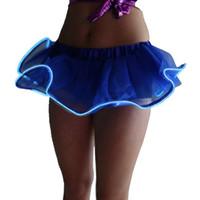 ingrosso scintille leggere-Cartone animato .7 colori Gonna ad alte prestazioni per danza LED per adulti Gonne scintillanti per tutu scintillanti Gonne per tutu chiare in tinta unita