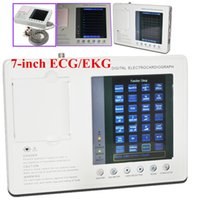 Wholesale Digital Ecg Machine - Best Sale Portable Digital 3-channel 12-lead Electrocardiograph ECG EKG Machine Hot!