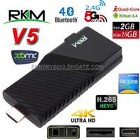 Wholesale Dongle Hdmi Smart Tv - 4K Android 4.4 Mini PC RKM V5 Rockchip RK3288 Quad Core 2G 16G Smart TV Box H.265 XBMC Bluetooth Dongle Dual Wifi Goolge Play Store IPTV