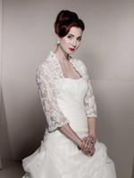 Wholesale Apricot Lace Dress - 2016 cheap Bridal jacket Amazing Style Applique Formal Wedding Bolero for Bride free shipping custom madewomen dress jacket