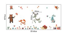 Wholesale mouse wall stickers - New Cute Cartoon Little Animals Party Wall Art Decor Stickers-- Lovely Owl Deer Mouse Bunny Squirrel Snail Birds in the woods Wall Art Mural