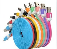 Wholesale Galaxy S3 Ribbon - 1M 2M 3M Ribbon Micro USB Charging Cable for GALAXY S4 S3 Note 2 Sony LG HTC