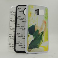 Wholesale s6 Sublimation print Blank plastic cover case for Galaxy S6 G9200 with plates and glue