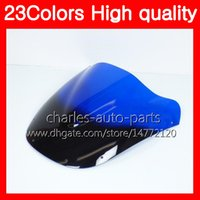 Wholesale Motorcycle Ninja Zx9r - 23Colors Motorcycle Windscreen For KAWASAKI NINJA ZX9R 94 95 96 97 ZX-9R 9 R ZX 9R 1994 1995 1996 1997 Chrome Black Clear Smoke Windshield
