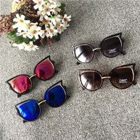 Wholesale Cheap Baby Girl Waterproofs - Fashion Boys Multi-Color Colored Sunglasses For Girls Cheap Sunglasses High Quality Baby Girls Kids Summer Glasses C5789