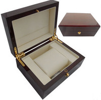 Wholesale Logo Boxes Packaging - Wholesale Luxury Brand Red Wood New Watch Box Customize Logo,OEM,Drop Shipping Service,China Packaging Boxes Factory Business in DH gate