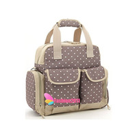 Wholesale Messenger Diaper Bag Wholesale - New Mu mmy Bags Oxford Messenger Baby Diaper Bags Feeding Bottles Nappy Changing Bibs Stroller Storage Bag Gear Stuff Pouch 3 Colors 010237