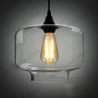 Wholesale Smoke Candy - Free Shipping Dia 35cm Clear Smoked Candy Jar Glass Chandelier Pendant Lamp 40W Glass Blown Pendant LightS E27 MYY3376A