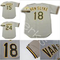 7f72cd3ee2c Custom 1992 Pittsburgh PIT 18 Andy Van Slyke 24 Barry Bonds 15 Doug Drabek  10 Jim Leyland 25 Bobby Bonilla Throwback Baseball Jerseys ...
