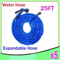 Wholesale expandable hose connector - New Expandable Flexible Plastic Hose Water Garden Pipe With Spray Nozzle For Car Wash Pet Bath Original FT ZY SG