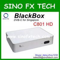 Wholesale Singapore Cable Receiver - Singapore HD Cable TV receiver Blackbox C801 HD DVB-C set top box Black box c801 free shipment