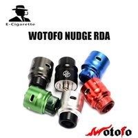 Wholesale Post Fittings - Wotofo Nudge BF RDA Rebuildable Drip Atomizer Tank E Cigarette 24mm Diameter Four Posts Vaporizer Fit Nudge Squonk Box Mod
