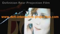 Wholesale Holographic rear projection transparent screen it can be used for window fashion advertise display