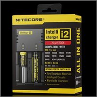 Hot selling Nitecore I2 Universal Charger for 16340 18650 14500 26650 Battery E Cigarette 2 in 1 Muliti Function Intellicharger Rechargeable