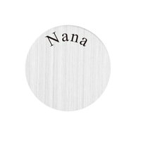 Wholesale mm Nana Stainless Steel Floating Locket Charms Plate for mm floating locket