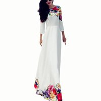 Wholesale Wedding Cocktail Womens Dresses - S5Q Sexy Womens Long Chiffon Lace Party Cocktail Evening Prom Wedding Maxi Dress AAAEOU