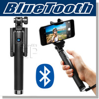 Wholesale Compact Aluminum - Selfie Stick,Ultra Compact Foldable QuickSnap Self-portrait Monopod Extendable Wireless Bluetooth Self Sticks with built-in Remote Shutter