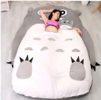 totoro bed achat en gros de-En gros 290 * 160 cm Énorme Confortable Dessin Animé Totoro Lit Sac De couchage Pad De Noël AA